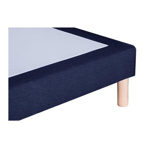 Tmavě modrá postel s matrací Stella Cadente Venus, 140x200 cm