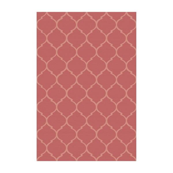 Vinylový koberec Reticular Rojo, 100x150 cm