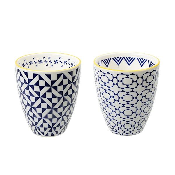 Sada 2 porcelánových šálků Geometric No2