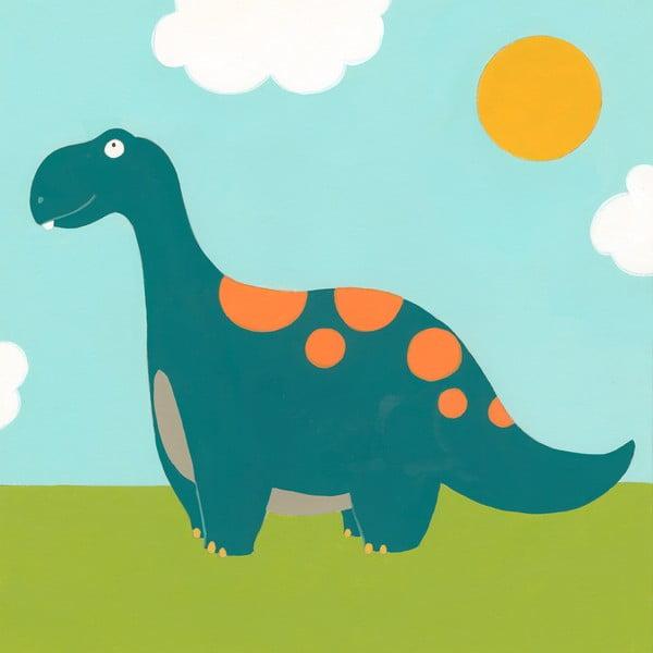 Dětský obraz Dino, 30x30 cm