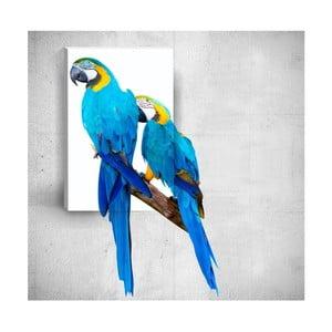 Nástěnný 3D obraz Mosticx Two Parrots, 40 x 60 cm