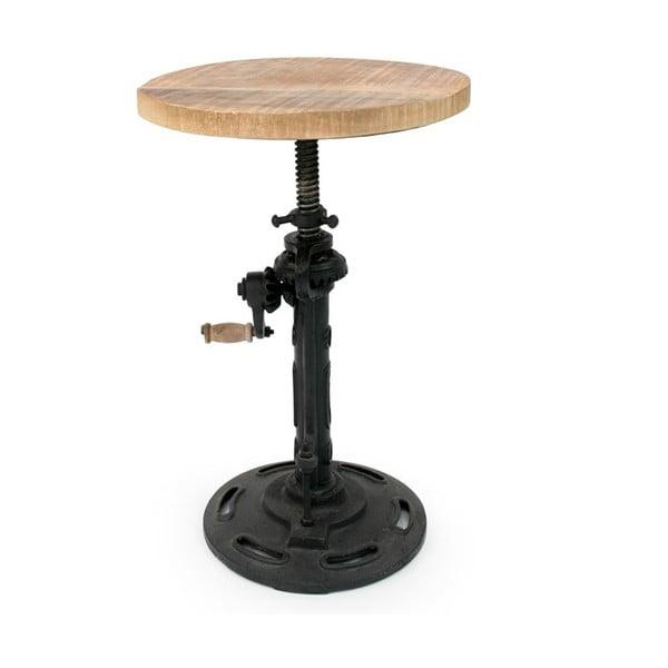 Gautan fekete szék mangófa ülőlappal - LABEL51