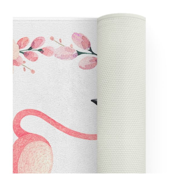 Dětský koberec OYO Kids Flower Ring Flamingo, 100 x 140 cm