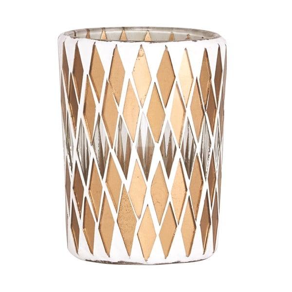 Svícen na čajovou svíčku Mosaic Gold