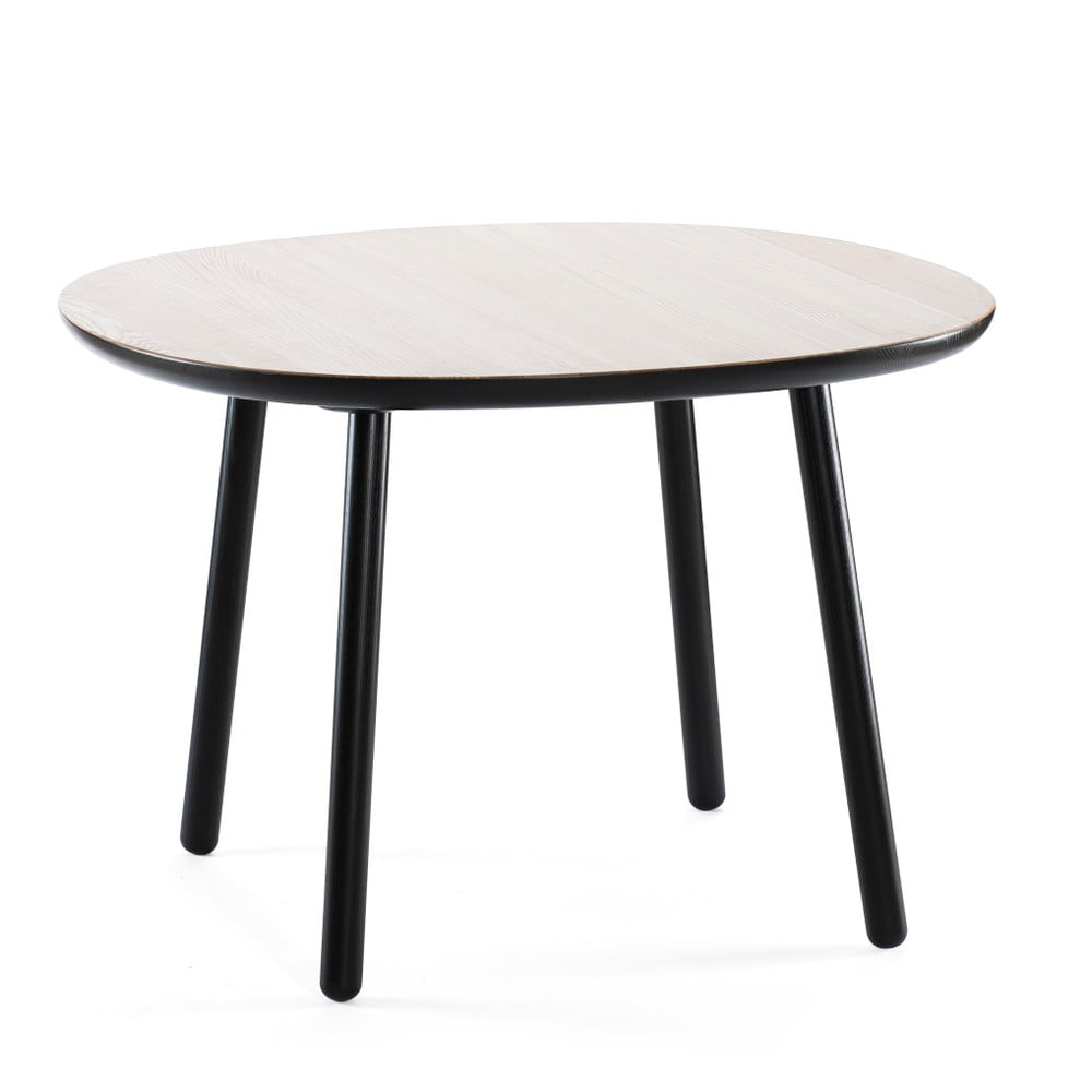 Černo-bílý jídelní stůl z masivu EMKO Naïve, 110 cm