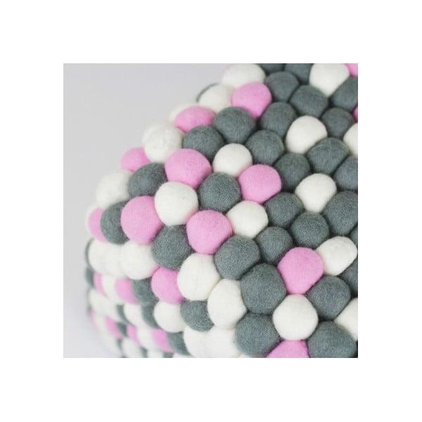 Ručně vyrobený kuličkový puf Ping Pong, hranatý
