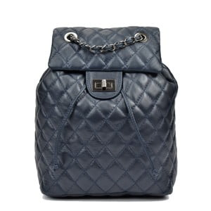 Tmavě modrý kožený batoh Anna Luchini Lucy
