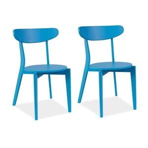 Sada 2 jídelních židlí Coral Blue