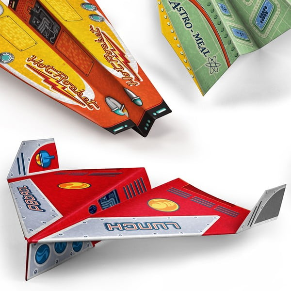 Papírové dětské skládací prostírání Airplane Food