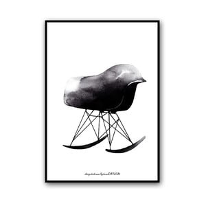 Autorský plakát Rocking Chair, 50x70 cm