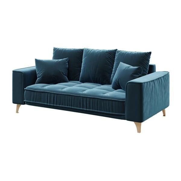Tmavě modrá dvoumístná pohovka devichy Chloe