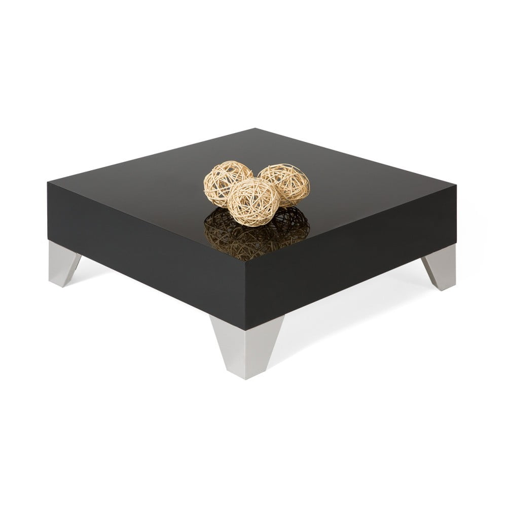 Černý konferenční stolek MobiliFiver Evolution, 60 x 60 cm