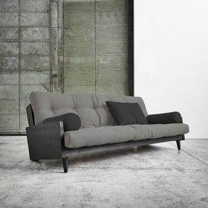 Canapea extensibilă Karup Indie Black/Granite Grey/Dark Grey