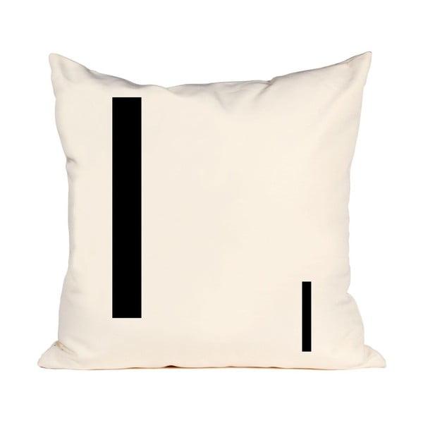 Písmenkový polštář Letra I, 50x50 cm