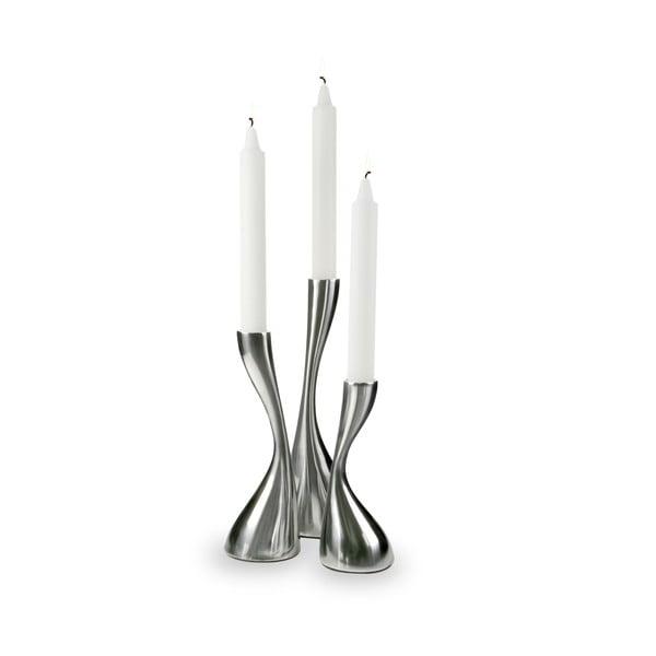 Sada 3 svícnů Curve Candlelight