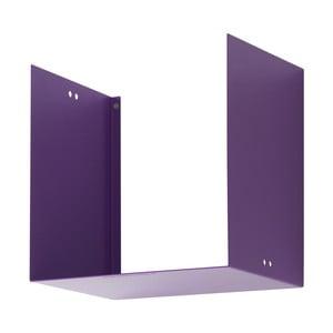 Nástěnná police Geometric One, fialová