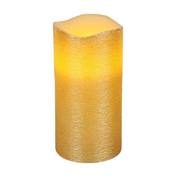 Zlatá LED svíčka Gina, výška 15 cm