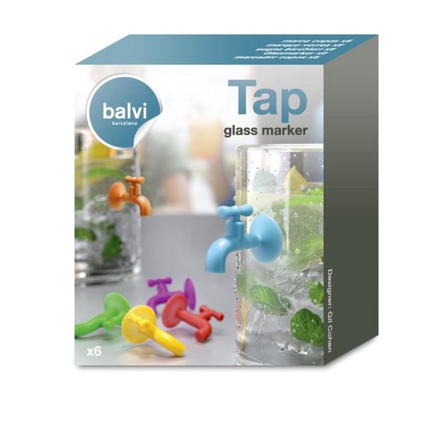 Sada 6ks rozlišovačů na skleničky Balvi Tap