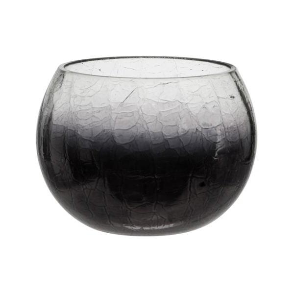 Svícen Ball Crackle Purple, 12x9 cm