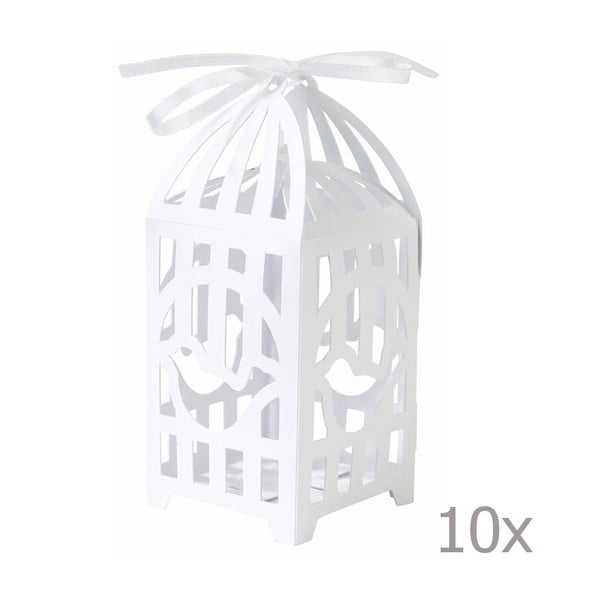 Boxíky na dárečky Birdcage, 10 ks