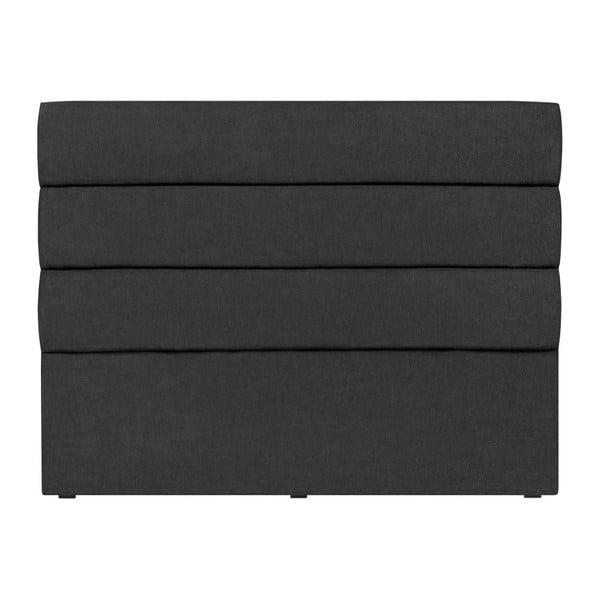 Černé čelo postele Mazzini Sofas Pesaro, 140 x 120 cm
