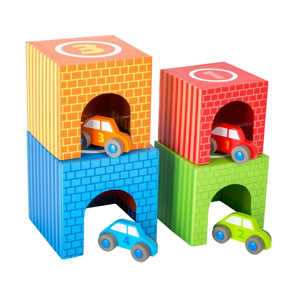 Dětské dřevěné stohovací kostky Legler Vehicles