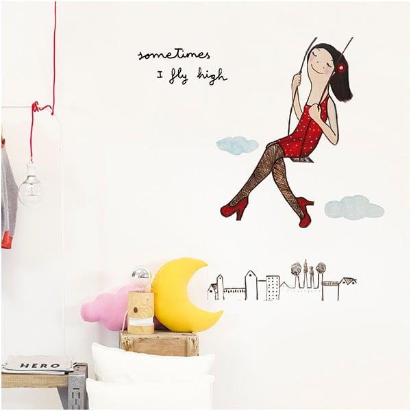 Dekorativní samolepka na zeď Fly High