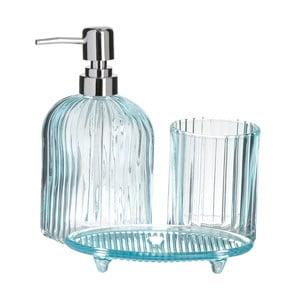 Modrý 3dilný koupelnový set InArt