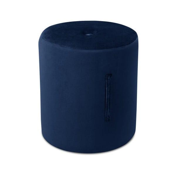 Niebieski puf Mazzini Sofas Fiore, ⌀ 40 cm