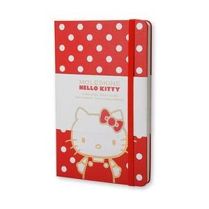 Malý červený zápisník Moleskine Hello Kitty, bezlinek