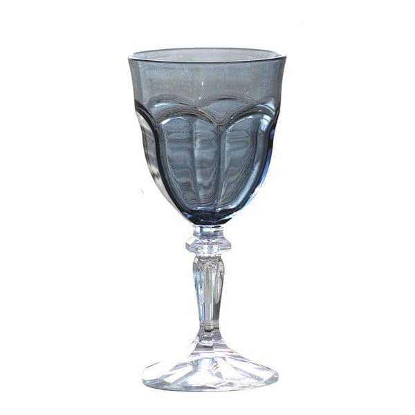 Sada 6 šedých plastových sklenic na víno Sunvibes Happy, 250ml