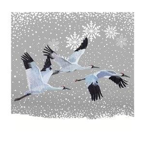 Balení 10 papírových ubrousků s vánočním motivem PPD Snowfall Cranes
