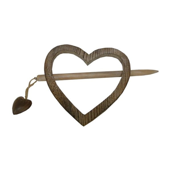 Držák na závěs Antic Line Heart Wooden