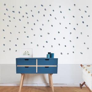 Modré nástěnné samolepky Art For Kids Dots