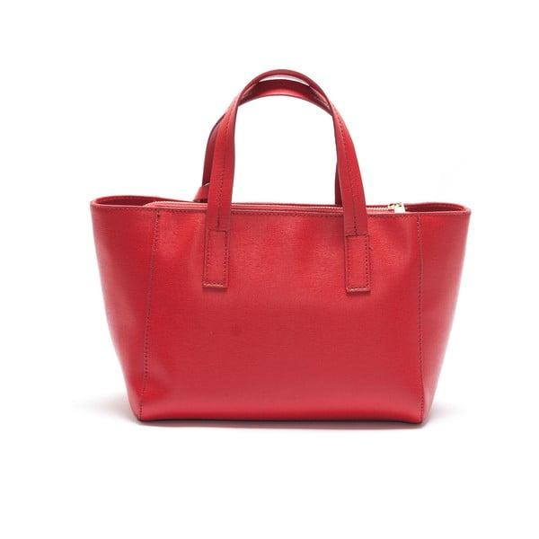Kožená kabelka Mangotti 447, červená