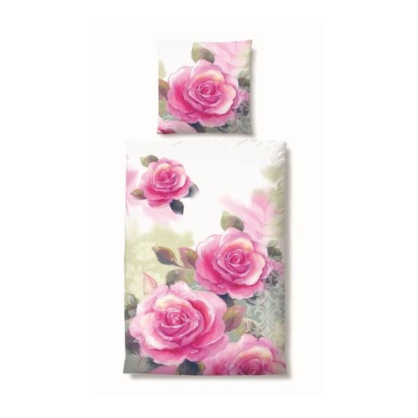 Povlečení Satin Rose, 155x220 cm