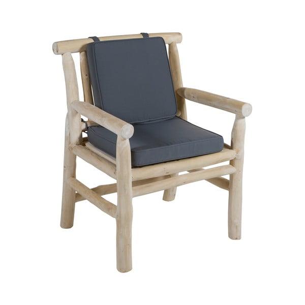 Fotoliu din lemn de tec cu șezut gri Santiago Pons Capri