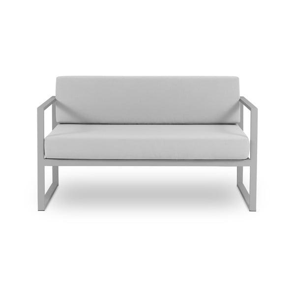 Canapea cu două locuri, adecvată pentru exterior Calme Jardin Nicea, gri
