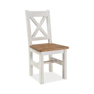 Bílá jídelní židle z borovicového dřeva Signal Poprad