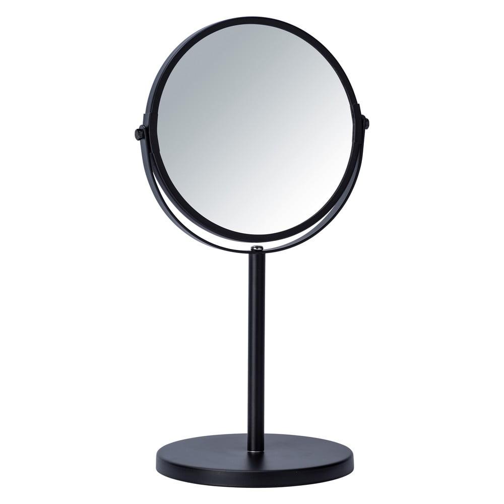 Černé kosmetické zrcadlo Wenko Assisi, ⌀ 17 cm