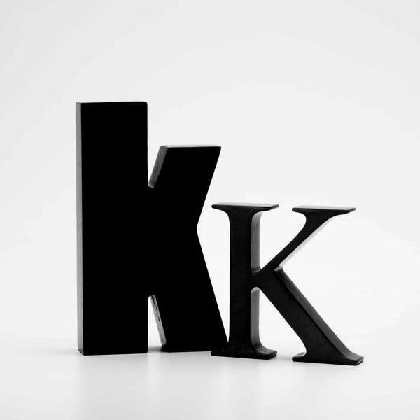 """Velké """"K"""" 8x8 cm, černá"""