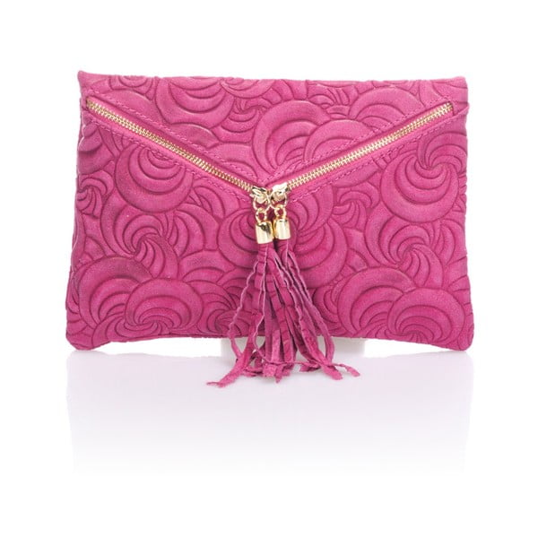 Kožené psaníčko Flaire, růžové