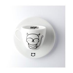 Ceașcă pentru espresso cu farfurie FOR.REST Design Lynx,100ml