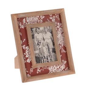 Dřevěný rámeček na fotografie InArt, červený