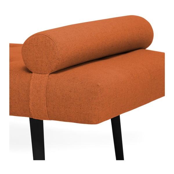 Tmavě oranžová lenoška s podhlavníkem a černými nohami Vivonita Ella