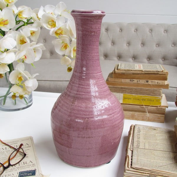 Váza Napoli Pink, 20x36 cm
