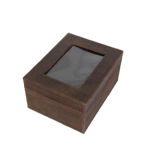 Úložná krabice Cordoba Brown, 22x18 cm