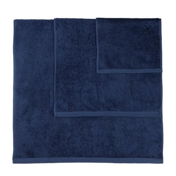 Set 3 prosoape Artex Alfa, albastru închis