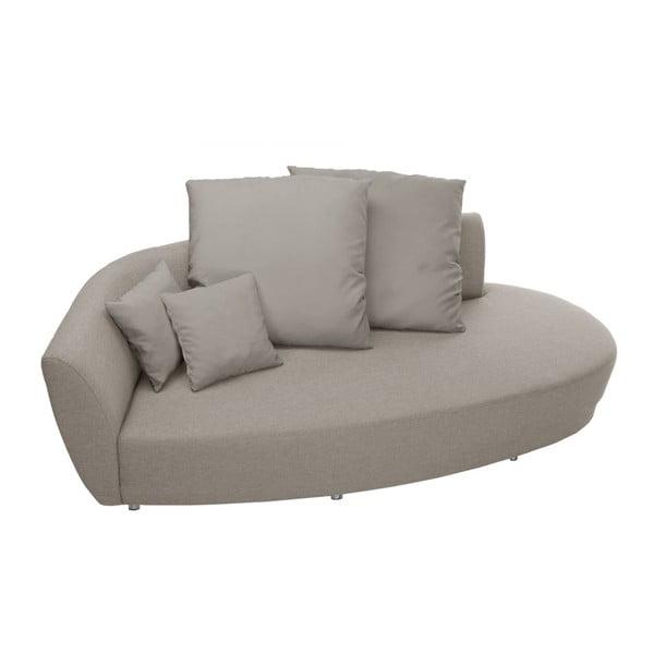 Canapea cu trei locuri Florenzzi Viotti Taupe, spătar pe partea stângă