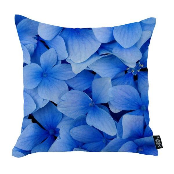 Blue Petals párnahuzat, 45 x 45 cm - Apolena